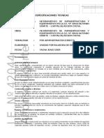 Especificaciones Tecnicas Alfonso Ugarte