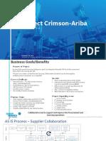 SAP – Ariba Implementation for F_PT_KO