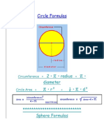formulae for circles cyllinders and spheres.docx