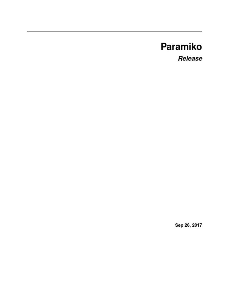 Paramiko download windows