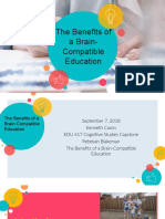the benefits of a brain-compatible education