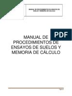 Manual de Procedimientos de Ensayos de Suelos
