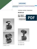 Ecoflux Ifs 1000 f Ifm 1010 k, Ifm 1080 k