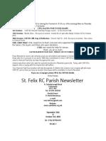 St Felix Catholic Parish Newsletter - September 26th & October 3rd 2010