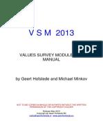 Values Survey Module Manual 2013