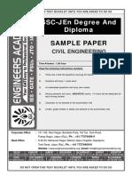 SSC JE Sample Paper 2018 (CE)
