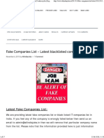 fake companies list