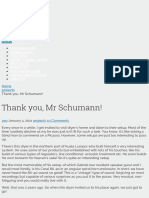 Thank You, Mr Schumann! - Diyparadise