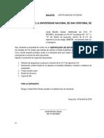 Certificado de Estudios Jacob