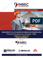 OLOE - ORÇAMENTO E LICITAÇÕES DE OBRAS DE ENGENHARIA - TURMA III - 160h - INBEC PA