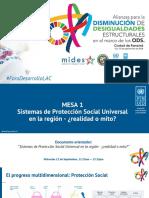 Sistemas de Protección Social Universal en la región - ¿realidad o mito?