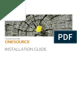 TR ONESOURCE Installation Guide   Microsoft Windows   Java