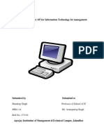 A Report file of MBA 107 for Information Technology for management.docx