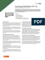 Synology DS112j Data Sheet Enu