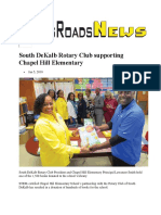 south dekalb rotary club supporting chapel hill elementary 1