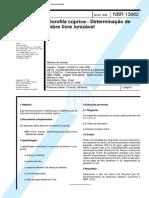 NBR 13682 - Clorofila cuprica - Determinacao de cobre livre ionizavel.pdf