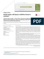 Partial Rotator Cuff Injury in Athletes - Bursal or Articular