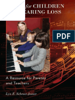 Music for Children With Hearing Loss a Resource for Parents and Teachers