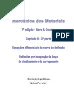 9.2 - Deflexão em vigas, Deflexão por integração da força de cisalhamento e do carregamento do livro Mecânica dos Materiais, Gere, 7ª edição, exercícios resolvidos.pdf