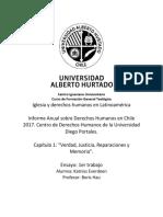 1er Trabajo derechos humanos en chile