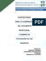 Disposiciones Para La Elaboración Del Documento Recepcional y (1)