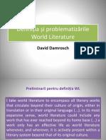 World Literature - introducere