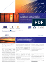 Conference on Renewable Energy 2012 Mumbai Info Sheet