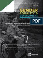 Equidad de Genero y Desarrollo
