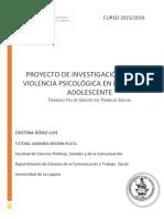 Proyecto de Investigacion Sobre La Violencia Psicologica en El Noviazgo Adolescente