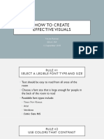 how to create effective visuals