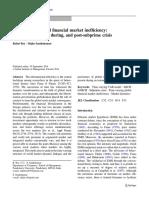 Time-varying global financial market inefficiency