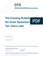 The Housing Bubble and the Great Recession