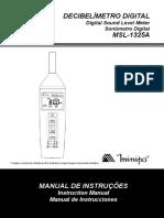 Decibelimetro Digital MSL 1325A Manual