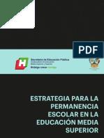 Estrategia para la permanencia escolar en la educación media superior
