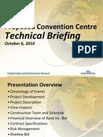 Halifax Convention Centre Bid Summary