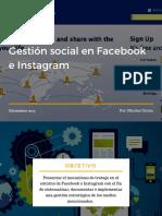 Lineamientos de Gestión Social en Facebook e Instagram 2017
