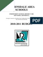 2010-2011 Budget-1