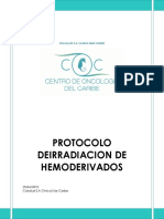 PROTOCOLO DE IRRADIACION DE HEMODERIVADOS