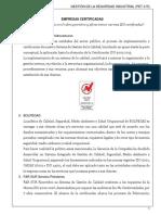 03 Empresas certificadas en Bolivia (sector hidrocarburos)