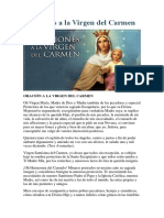 Oraciones a La Virgen Del Carmen
