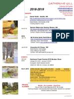 2018-19 Workshop Schedule