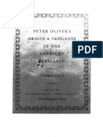 Oliver_Origin & Progress of American Rebellion