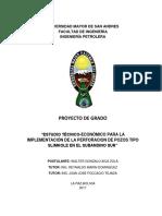 Estudio Tecnico Economico para la implementacion de la perforacion de pozos tipo slimhole en el subandino sur