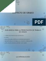PROYECTO de GRADO- Guia Básica Para La Presentación