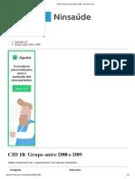 CID 10 Grupo Entre D80 e D89 - Pesquisa CID