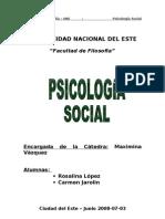 La Socialización. Psicologia Social
