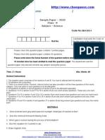 Mock Sample Cb Xscience Sample Paper