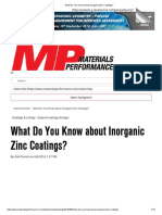 What Do You Know About Inorganic Zinc Coatings