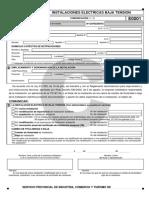 Certificado de Instalacion Electrica (Boletin) Para Aragon