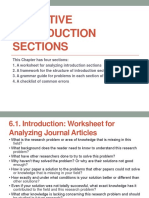 Effective Introduction Section